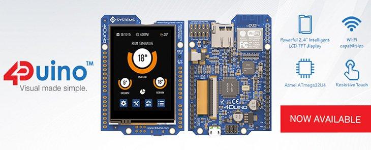 4Duino - modul Arduino cu afișaj, gata de utilizare
